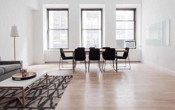 Luxury vinyl in the living space