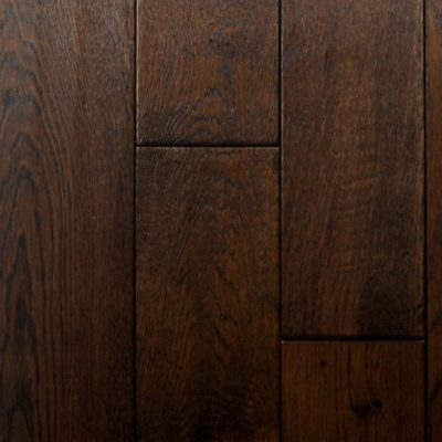 Hand-Scraped Oak Ebony, Solid Hardwood Flooring. Wide selection of styles and colors.