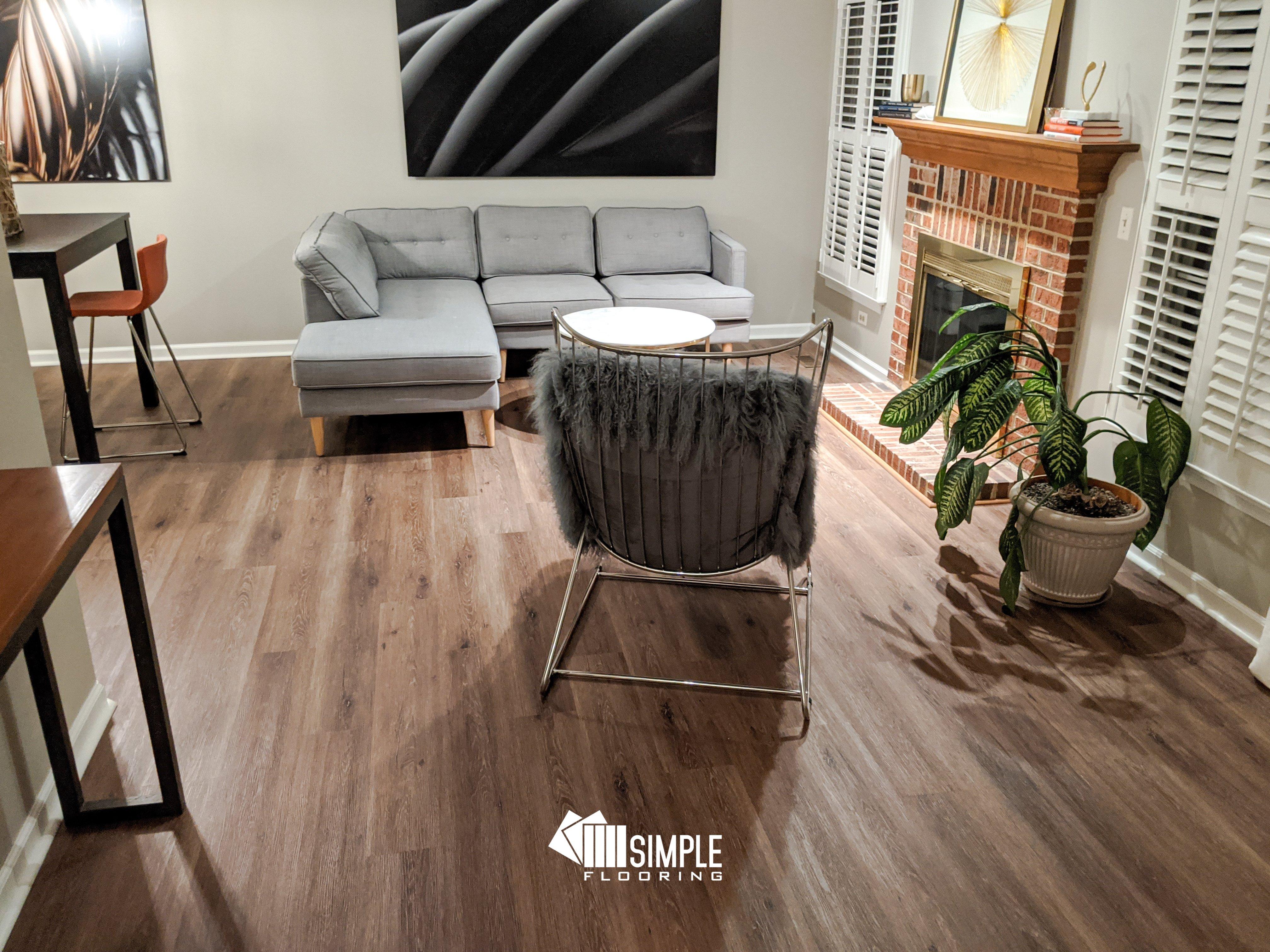 SPC Briar installed by Simple Flooring