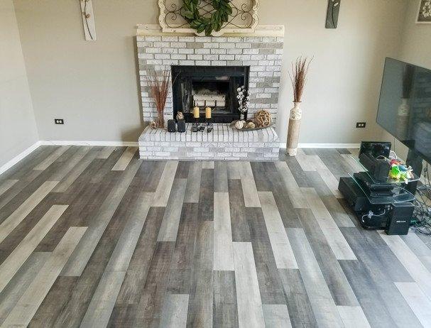 Simple Flooring Projects Gray laminate flooring at Simple Flooring Company