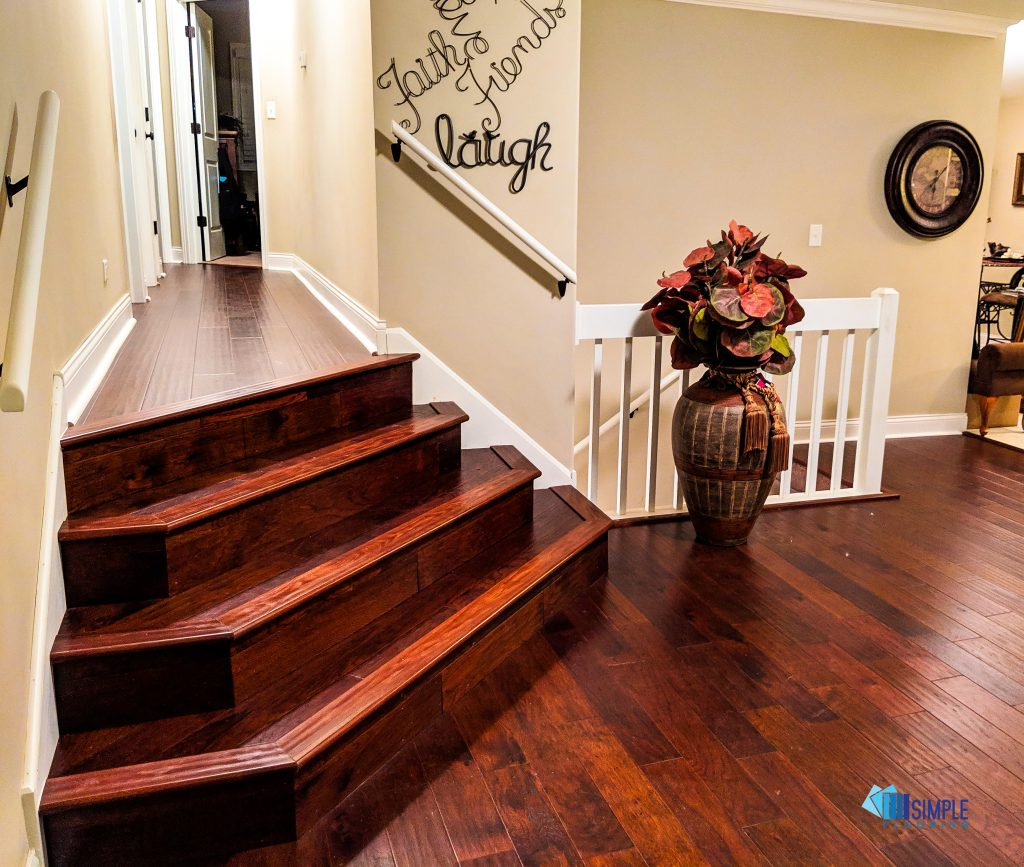 Brazilian Cherry stairs by Simple Flooring Company