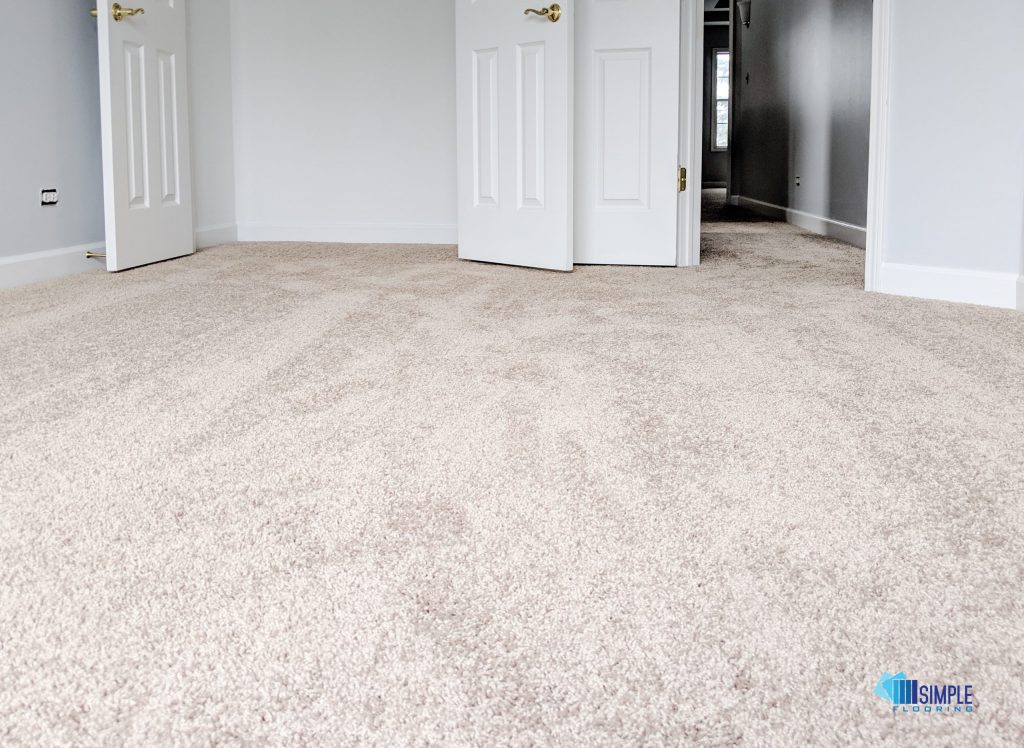 Carpet in the bedroom by Simple Flooring Company