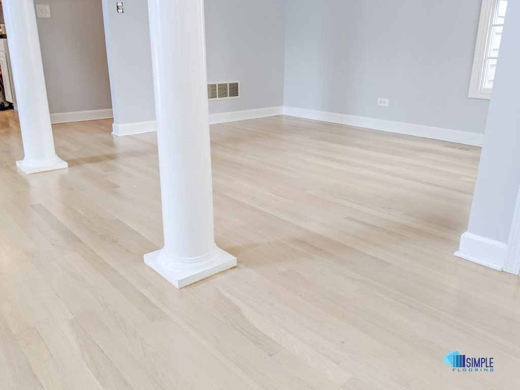 Refinished oak wood by Simple Flooring Company