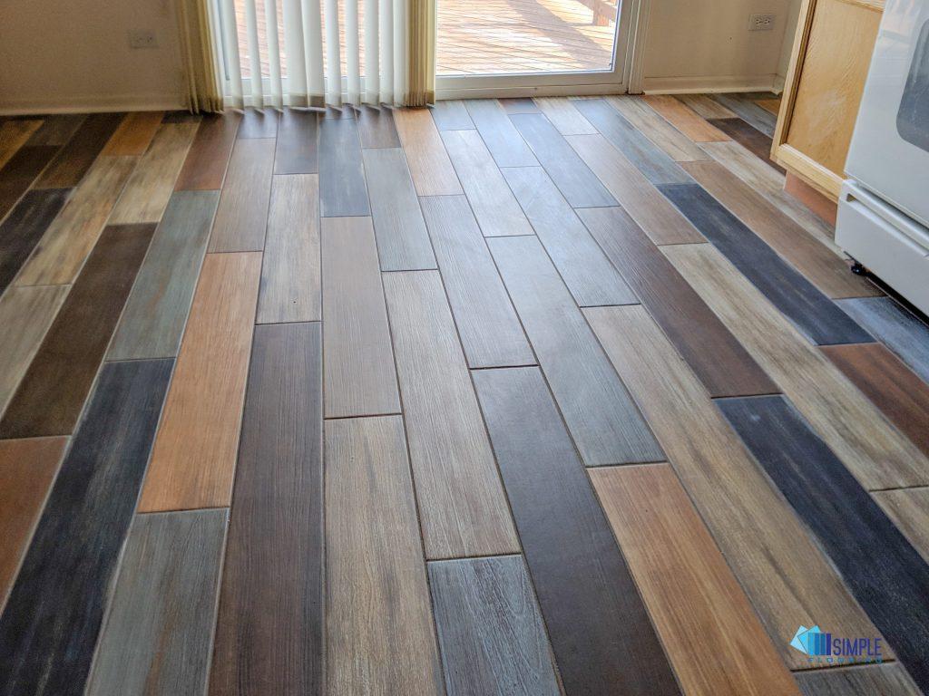 Colorful ceramic option at Simple Flooring Company