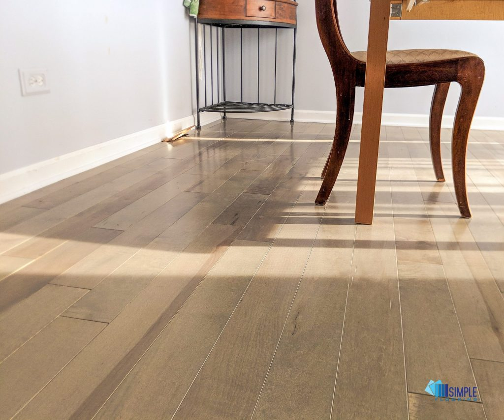 Beautiful prefinished solid wood. Simple Flooring Company