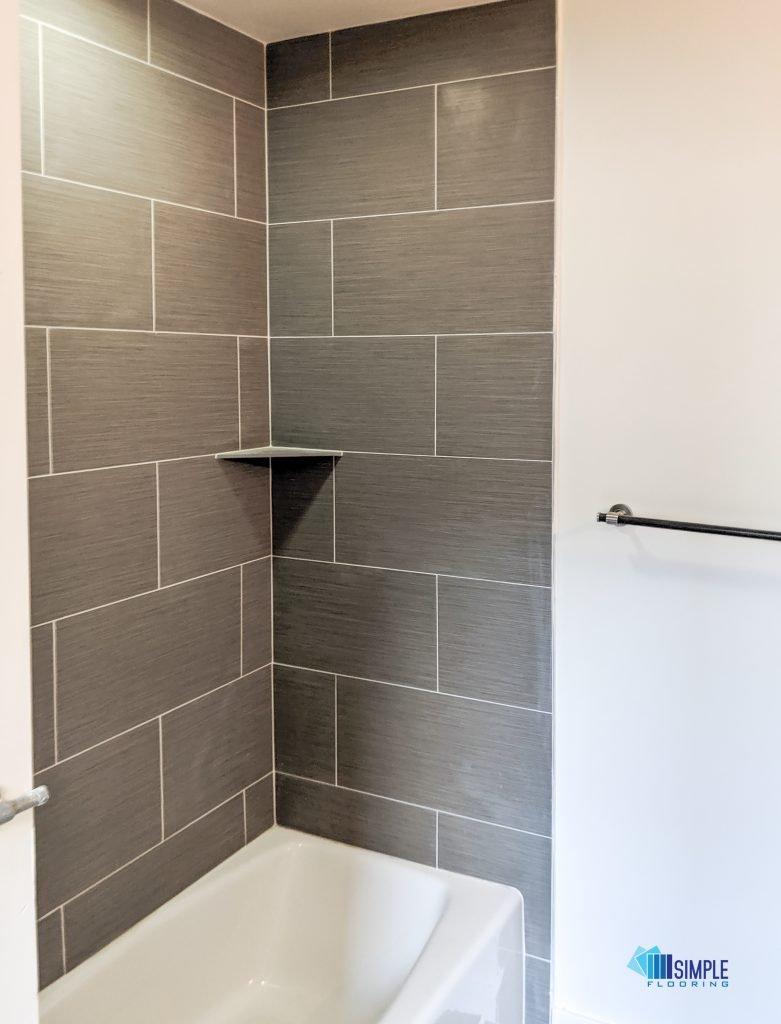 Ceramic bathroom makeover by Simple Flooring Company