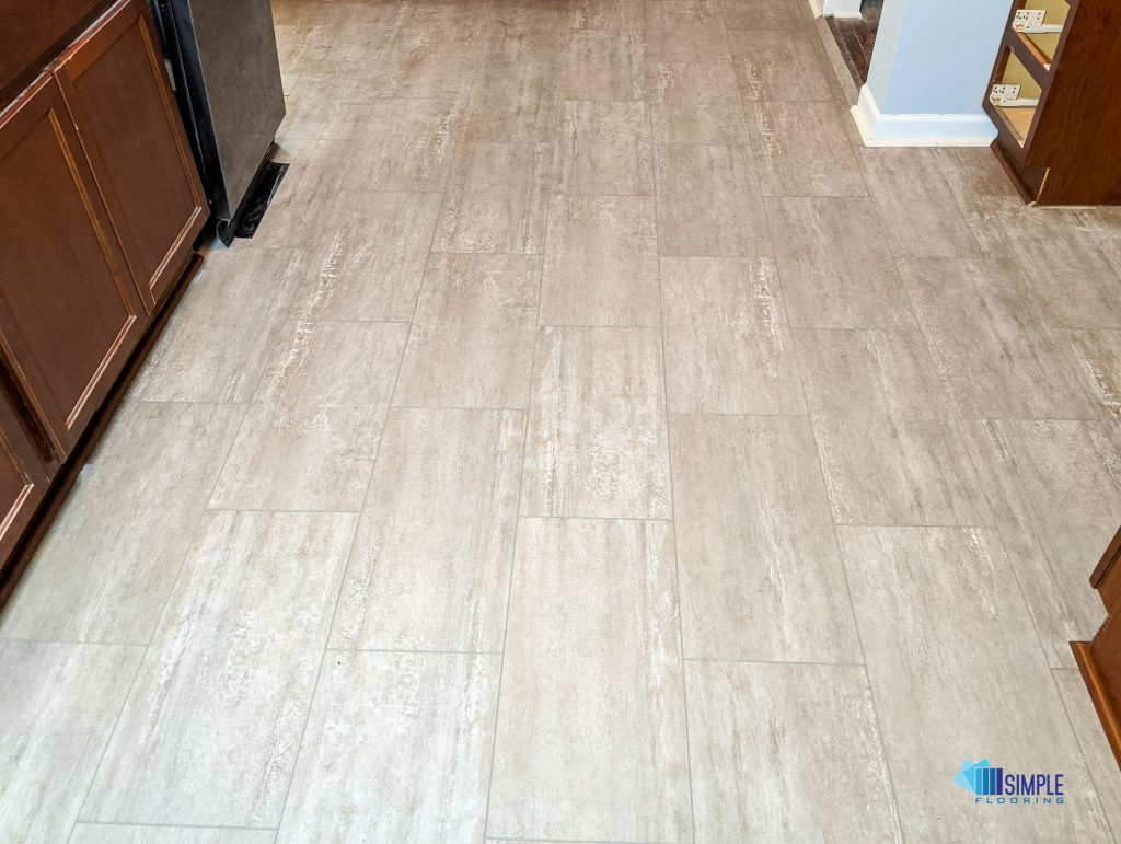 Ceramic tile in the kitchen by Simple Flooring Company