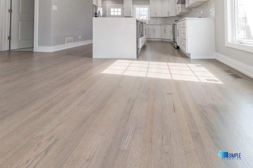 Hardwood sanded and refinished at Simple Flooring Company