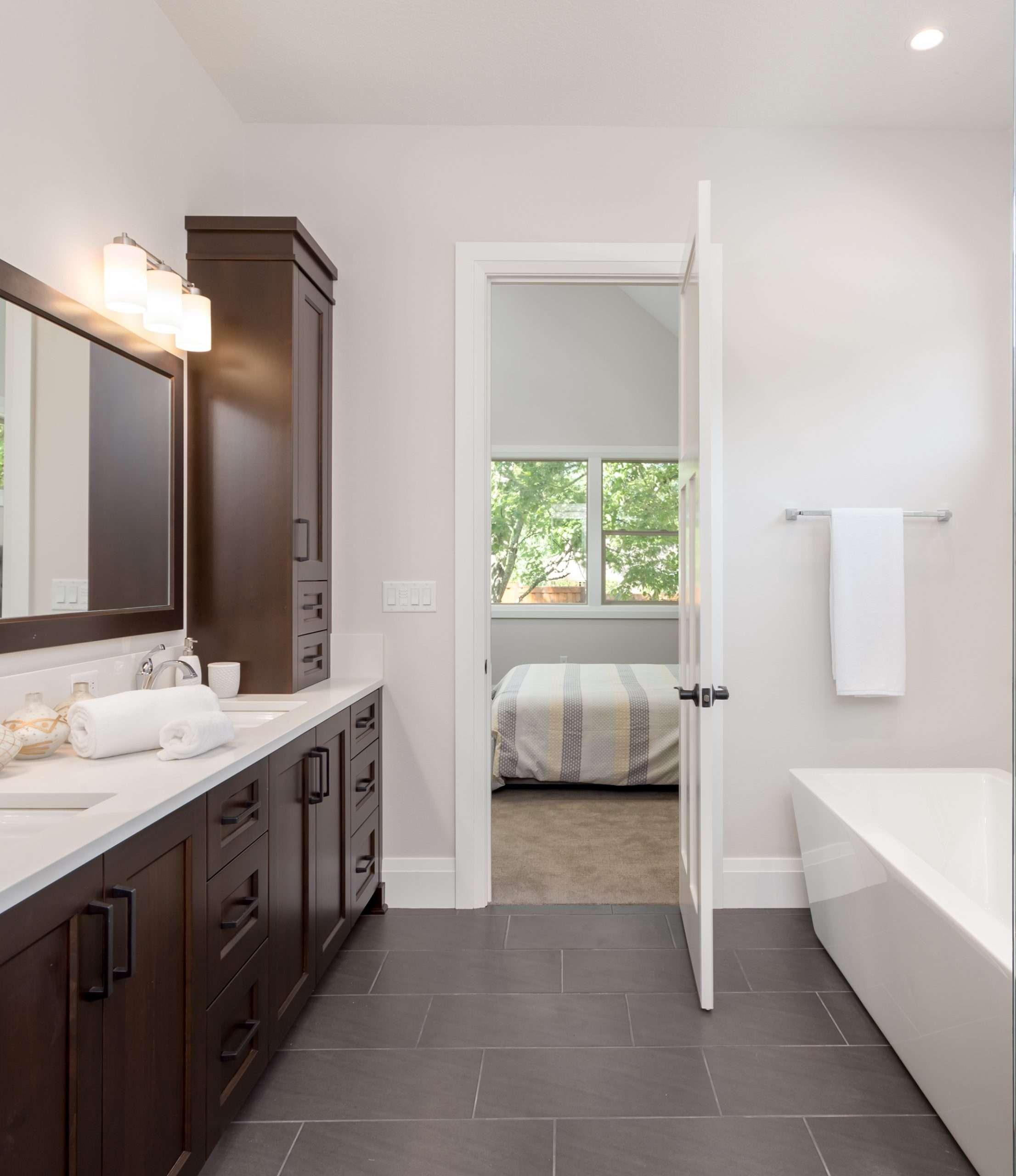 Luxury Vinyl Tiles in the bathroom